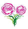 Flower love heart valentine day tattoo Floral desi vector image vector image