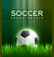 football sport game poster with 3d soccer ball vector image