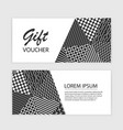 gift voucher template with abstract vector image