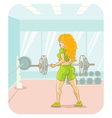 Girl fitness vector image vector image
