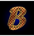 golden and red letter b vector image vector image