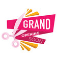 grand opening soon announcement new shop or vector image
