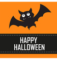 halloween bat background vector image