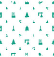 handbell icons pattern seamless white background vector image vector image
