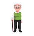 happy grandparents day handsome smiling old man vector image vector image