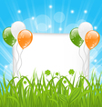 Happy St Patricks day celebration card vector image vector image