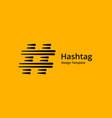 hashtag symbol logo icon design template elements vector image vector image
