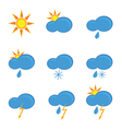 icons for weather forecast color vector image vector image