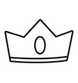 isolated crown cartoon vector image