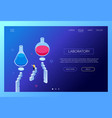 laboratory concept - modern isometric web vector image