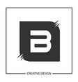 letter b logo template design vector image