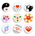 love badges vector image vector image