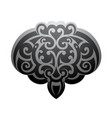 maori style stingray tattoo vector image vector image