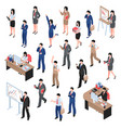 men and women business set vector image