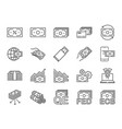 money line icon set vector image vector image