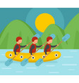 mounting rafting background flat style vector image