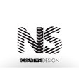 ns n s lines letter design with creative elegant vector image vector image