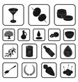 olive food black icons in set collection for vector image