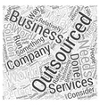 outsourcing services Word Cloud Concept vector image vector image