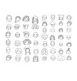 pattern with graphical faces vector image vector image