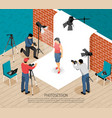 photo session isometric composition vector image vector image