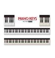 photorealistic piano keyboard icon set vector image vector image