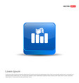progress graph icon - 3d blue button vector image