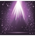 Purple Rays of Magic Lights vector image vector image