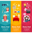 Realistic cinema movie poster template vector image vector image