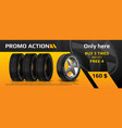 realistic tire banner car wheel repair and auto vector image