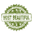 scratched textured most beautiful stamp seal vector image