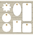 Set of white paper collection stickers and label vector image vector image