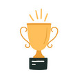 shiny gold cup or goblet for champion sport vector image
