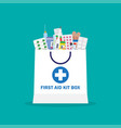 shopping bag with different medical pills and vector image vector image