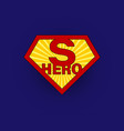 sign superhero on blue background with halftone vector image vector image