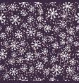 simple snowflakes on dark vector image vector image