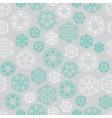 Snowflake winter Christmas seamless green and vector image vector image
