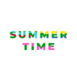 summer time colorful geometric type banner vector image