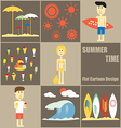 Summer Time people Flat Cartoon vector image vector image