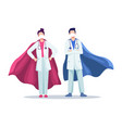 super doctor concept vector image vector image