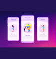 teamwork app interface template vector image vector image