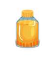 transparent bottle with plastic cap filled with vector image vector image