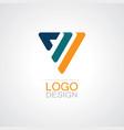 triangle shape logo vector image vector image