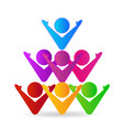 unity people together logo vector image vector image