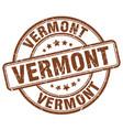 vermont brown grunge round vintage rubber stamp vector image vector image