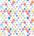 Vintage Diamond Polka Dots Seamless Pattern vector image