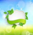 Vintage frame wit green ribbon vector image vector image