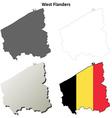 West Flanders outline map set - Belgian version vector image vector image