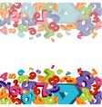 3d letters vector image