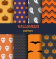 halloween pattern set vector image